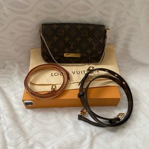 Louis Vuitton favorite pm with two straps